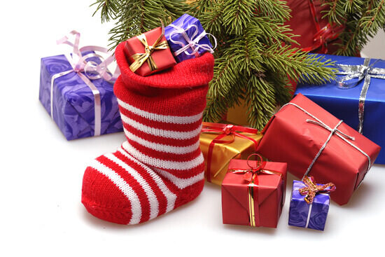 christmas-stocking-and-present